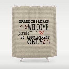 Grandchildren Welcome Shower Curtain