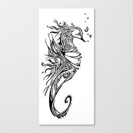 Tribal Seahorse Canvas Print