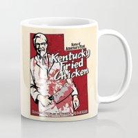 utah Mugs featuring KFC (Utah) by Geekleetist