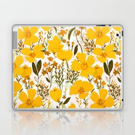 Yellow roaming wildflowers Laptop & iPad Skin