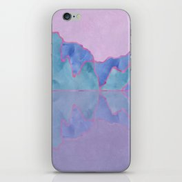 Mountain Reflection in Water - Pastel Palette iPhone Skin