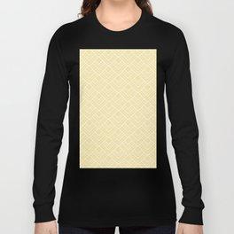 Summer in Paris - Sunny Yellow Geometric Minimalism Long Sleeve T-shirt