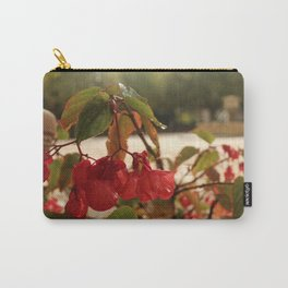 Red French Fall Flower Carry-All Pouch