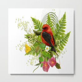 little red bird Metal Print