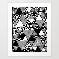 Triangular world Art Print