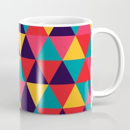 Colorful Triangles (Bright Colors) Coffee Mug
