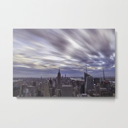 City at Sunset Metal Print