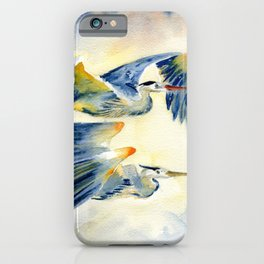 Flying Together - Great Blue Heron iPhone Case