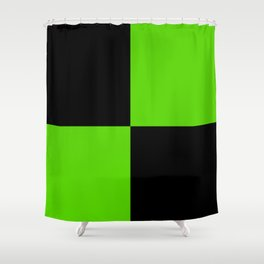 Big mosaic green black Shower Curtain