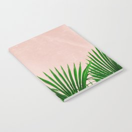 Palm Leaves On Pink Background Notebook