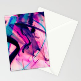 Calligraphy Rain Abstract Painting Stationery Cards
