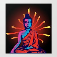 buddha Canvas Prints featuring Buddha by famenxt