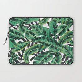 Tropical Glam Banana Leaf Print Laptop Sleeve