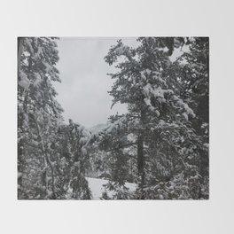 Winter in April Throw Blanket