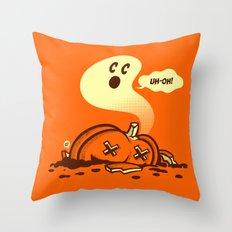 uh-oh! Throw Pillow