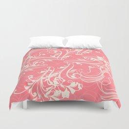 Pink swirls. Vector floral deisgn Duvet Cover
