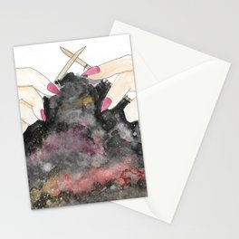 Knitting space Stationery Cards