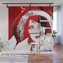 Vintage Women Pop/Grunge Red and Black (Gloria)  Wall Mural
