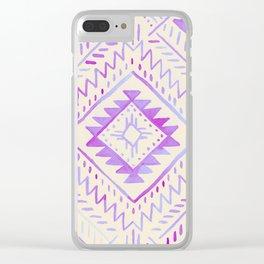 Watercolor Geometric - Peach Violet Clear iPhone Case