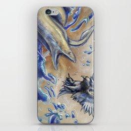 Eel vs. Pigeon iPhone Skin