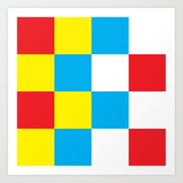 Primary Large Checkerboard Art Print
