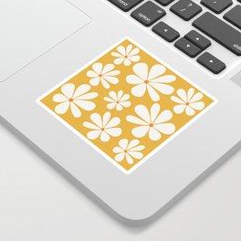 Floral Daisy Pattern - Golden Yellow Sticker
