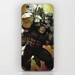 hulk v.s. juggernaut iPhone Skin