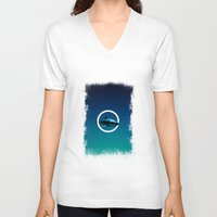 shark V-neck T-shirts featuring Shark. by POP.