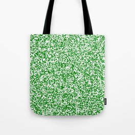 Tiny Spots - White and Green Tote Bag