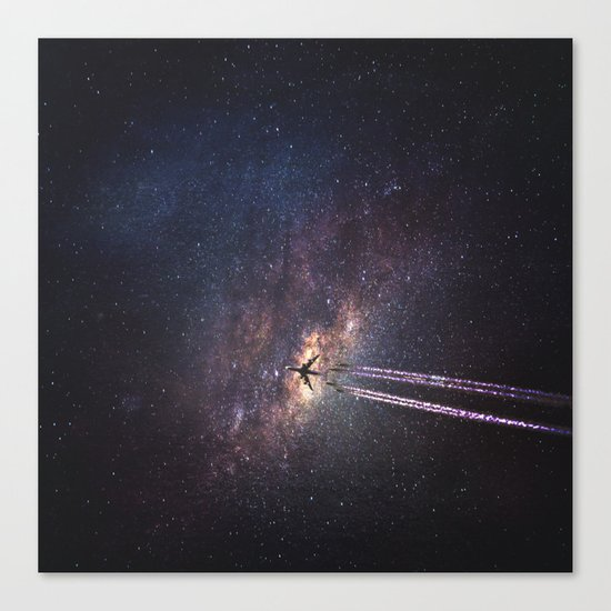 intergalactic space travel Canvas Print