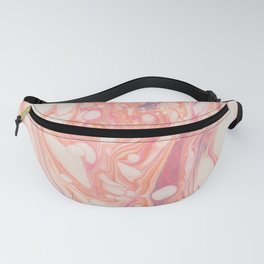 Pink Lilac Marble Fanny Pack