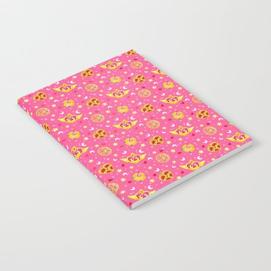 Sailor Moon Brooches Pattern - Pink / Sailor Moon Notebook