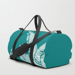 Banana Leaves on Teal #society6 #decor #buyart Duffle Bag