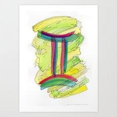 Gemini Flow Art Print