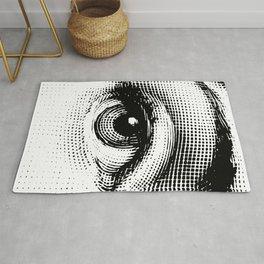 Lina Cavalieri - right eye Rug