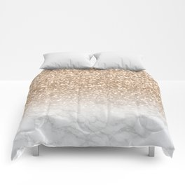 Sparkle - Gold Glitter and Marble Comforters