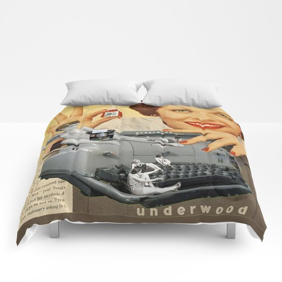 Friday Night in the Typing Pool Comforters