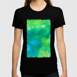 Abstract in Blue Green T-shirt