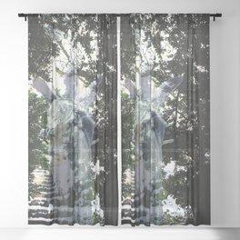Heavenly apparition  Sheer Curtain