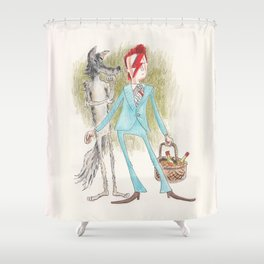 Little Red Bowie Shower Curtain