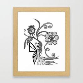 alien butterfly Framed Art Print