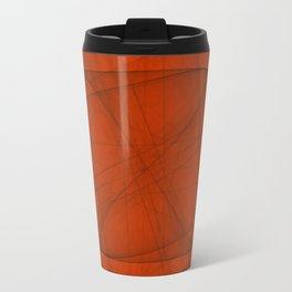 Fractal Eternal Rounded Cross in Red Travel Mug