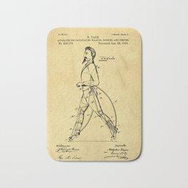 Old Patent Drawing Bath Mat