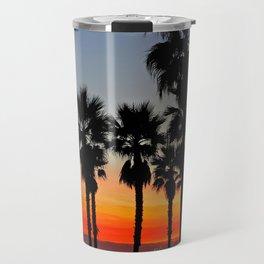 Huntington Beach Sunset Palms     ~    12/13/13 Travel Mug