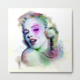 Marilyn under brushes effects Metal Print
