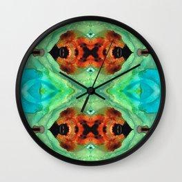 Soul Symphony - Abstract Art by Sharon Cummings Wall Clock