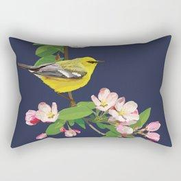 Blue-Winged Warbler Bird Art Rectangular Pillow