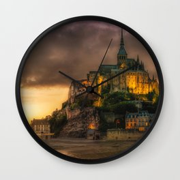 Le Mont Saint Michel Wall Clock