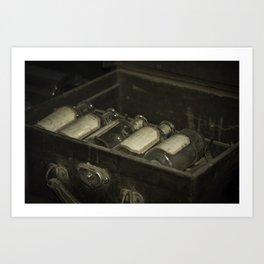 Flasks Art Print