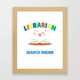 Funny Librarian Shirt. Costume From Kids Framed Art Print